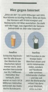 Bier gegen Internet