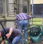 Arbeitseinsatz auf dem Westfriedhof